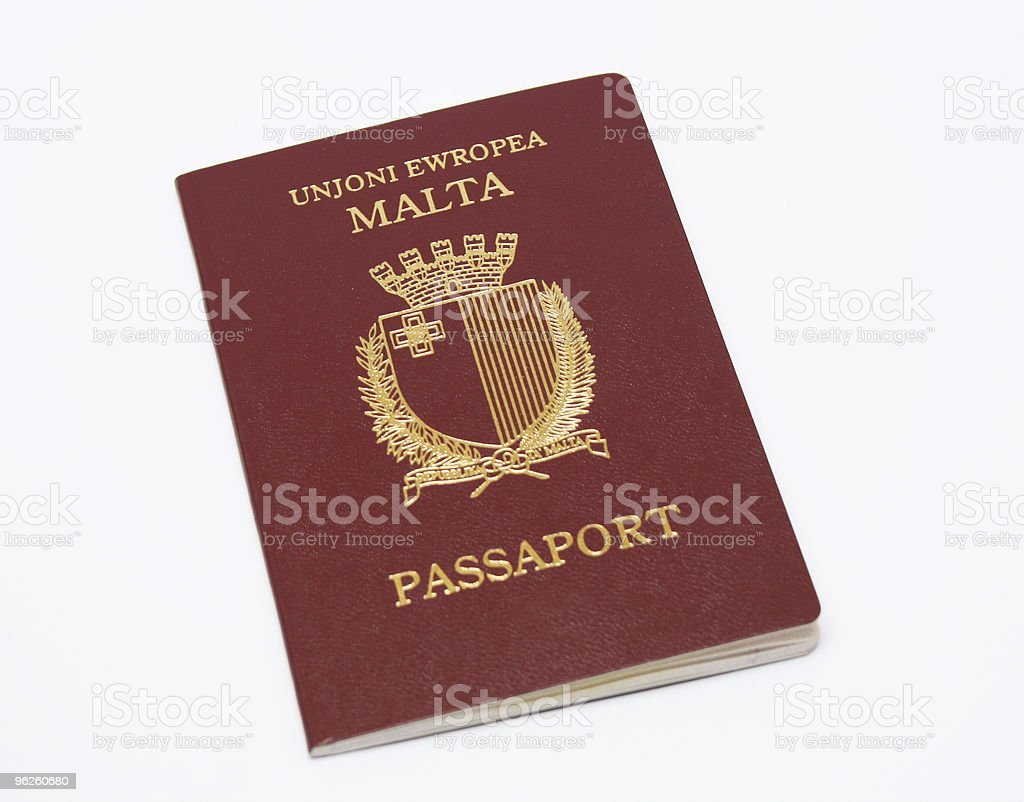Maltese Passport stock photo