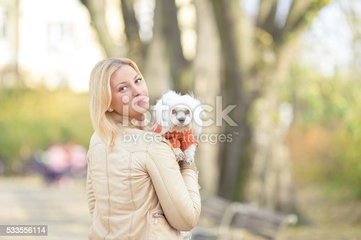 istock Maltese Puppy and Her Owner 533556114