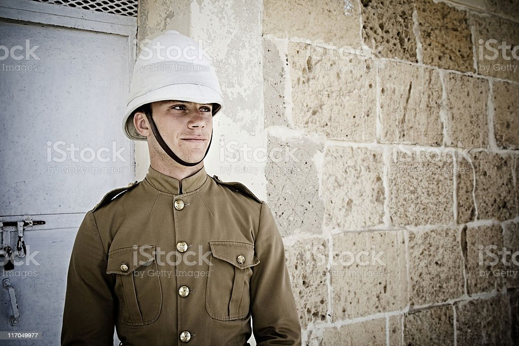 Maltese soldier royalty-free stock photo