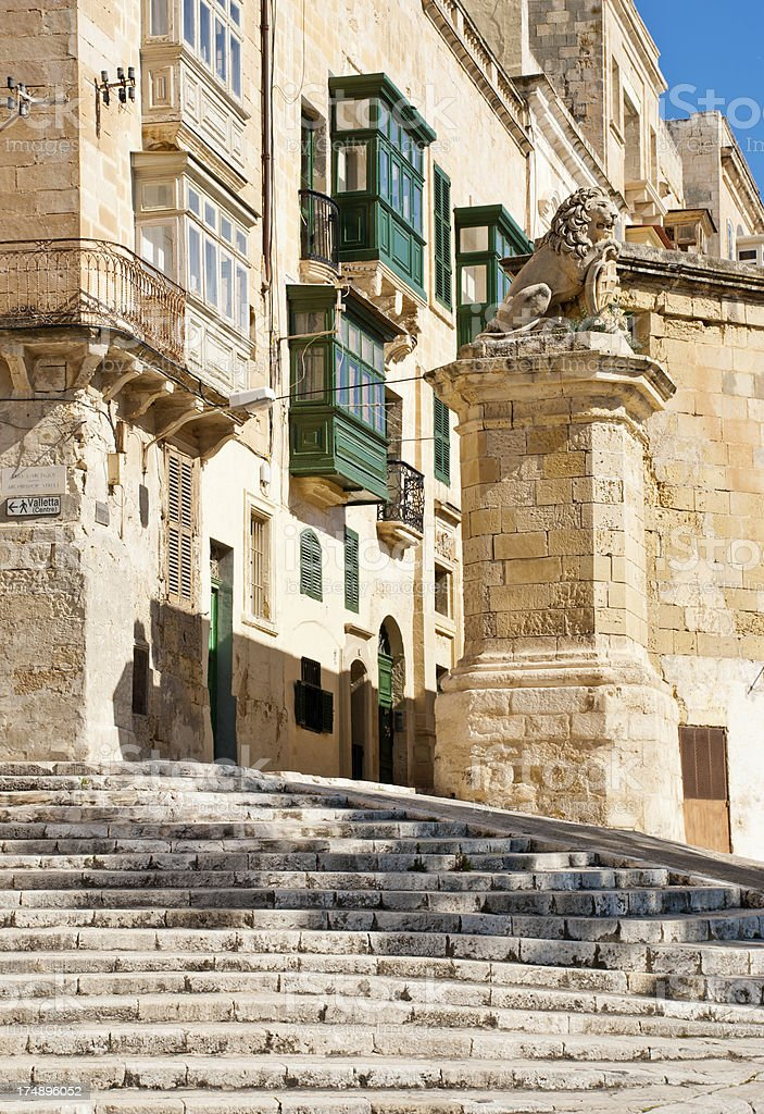 Maltese Steps and Alleys royalty-free stock photo