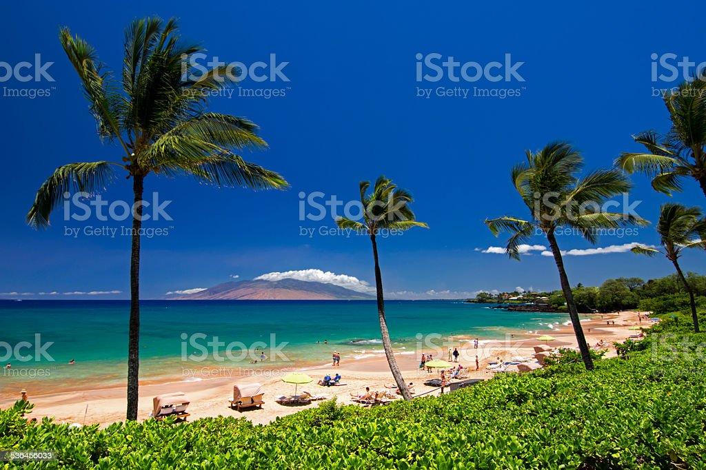 Maluaka Beach, south Maui, Hawaii, USA stock photo