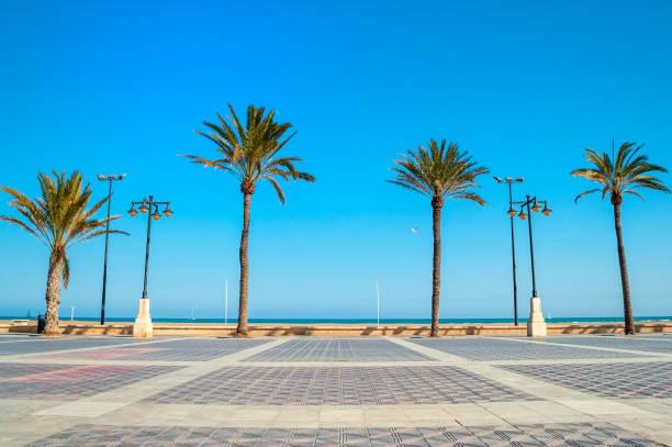malvarrosa strand, valencia, spanje - valencia stockfoto's en -beelden