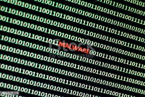 1054934004 istock photo Malware code 531628129