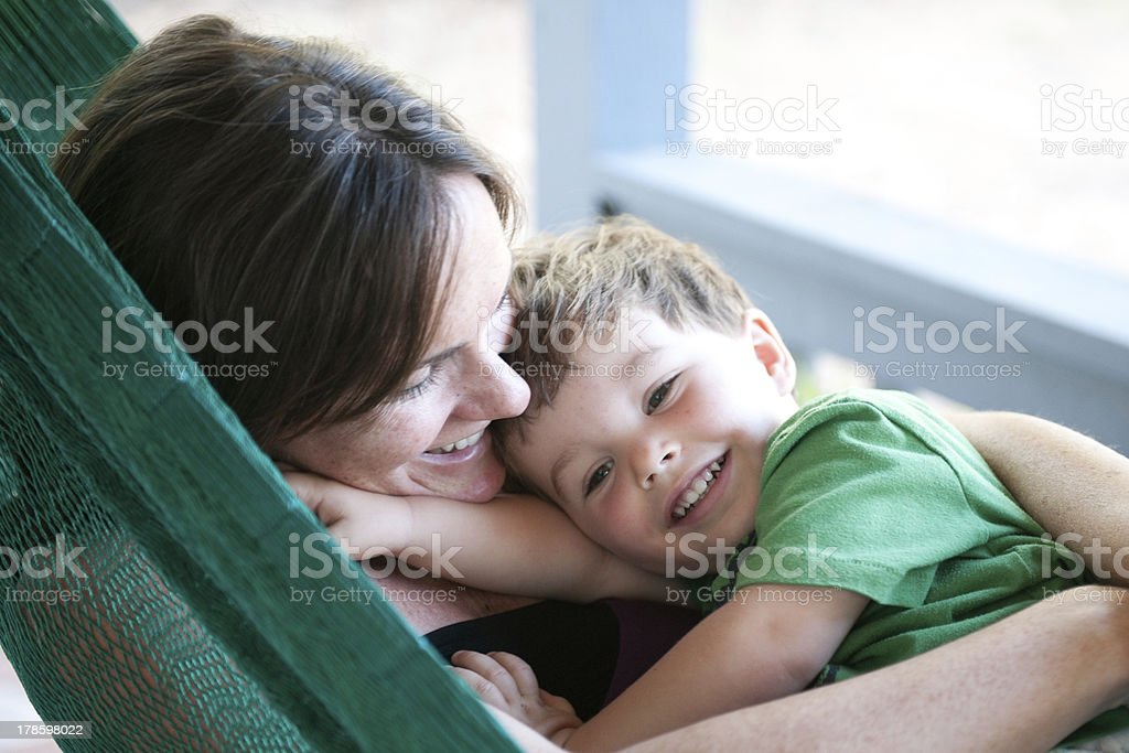 Mama and Son stock photo