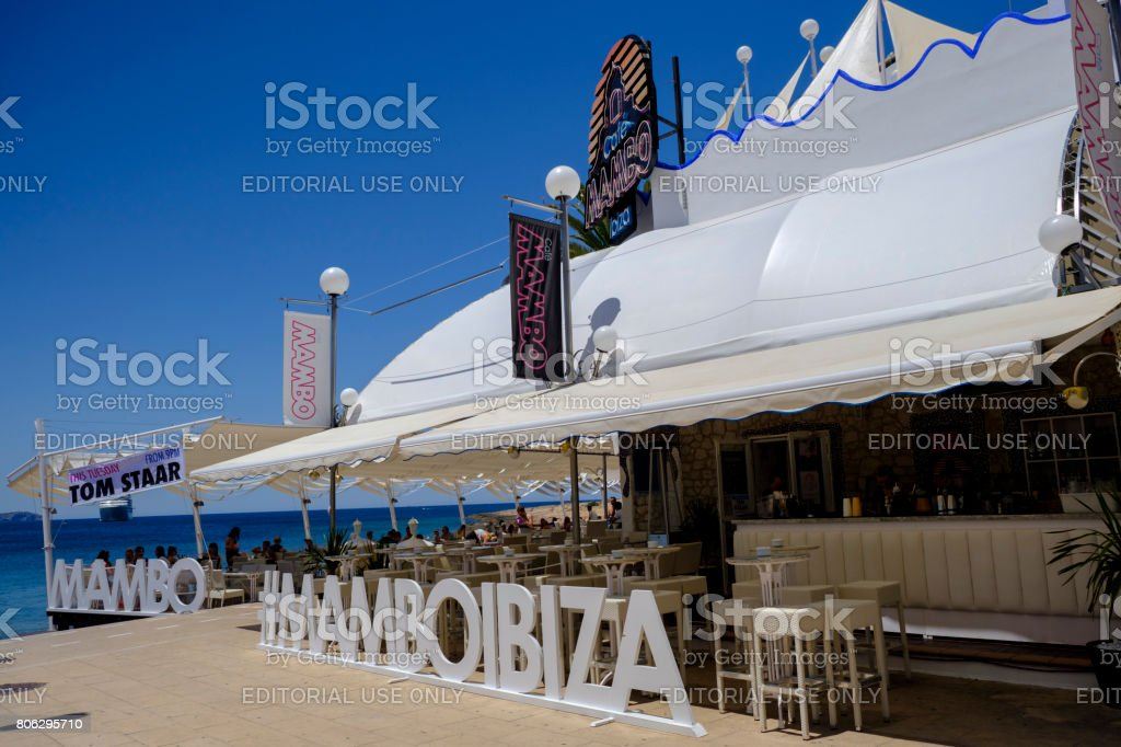 Mambo Ibiza stock photo