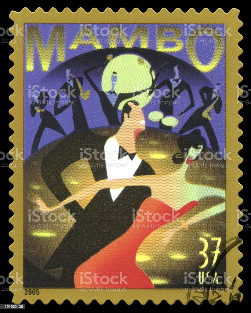 Mambo USA Postage Stamp royalty-free stock photo