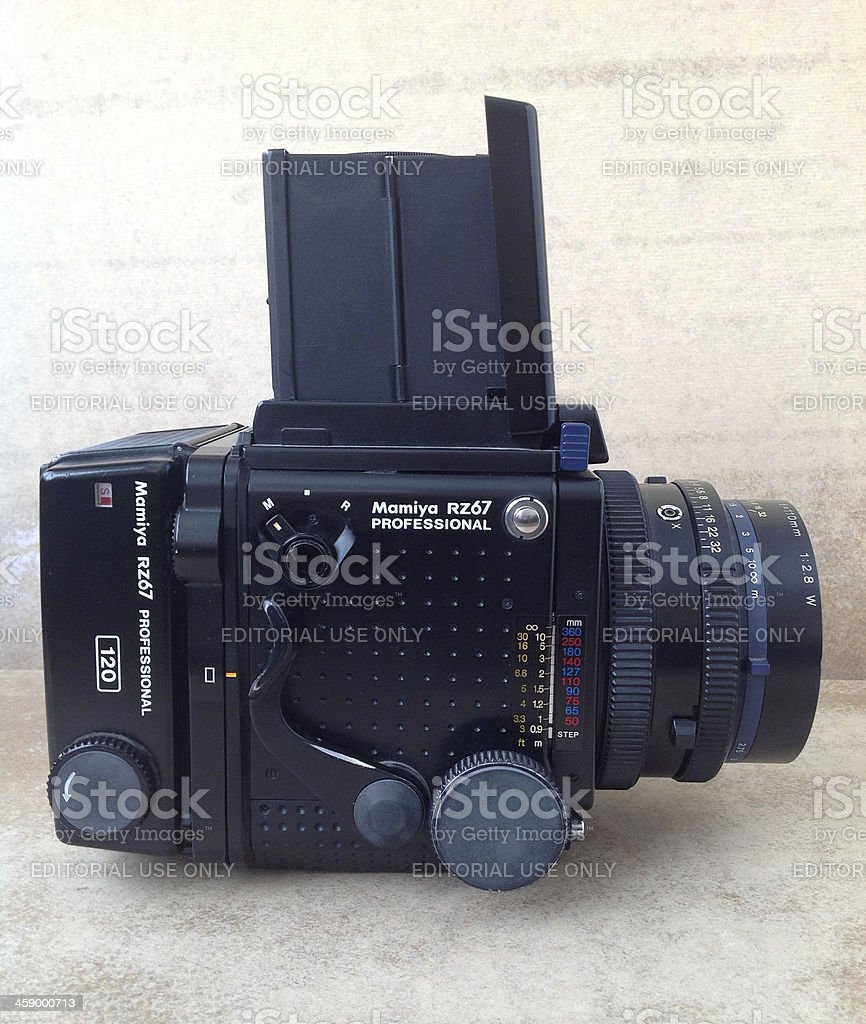 Mamiya rz67 medium format camera royalty-free stock photo