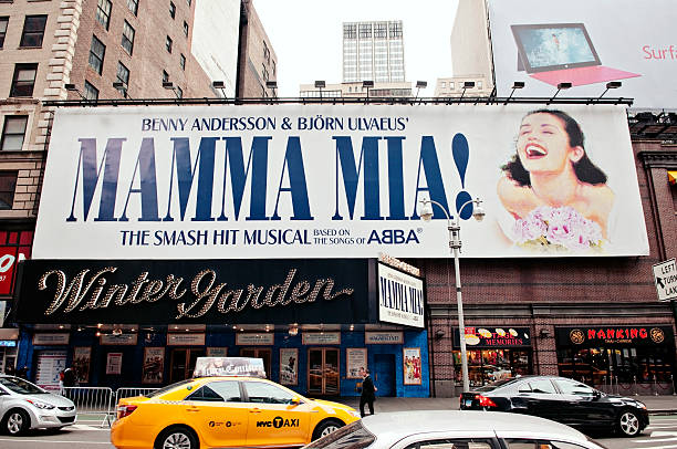 mamma mia on broadway, new york city - mamma mia stock photos and pictures