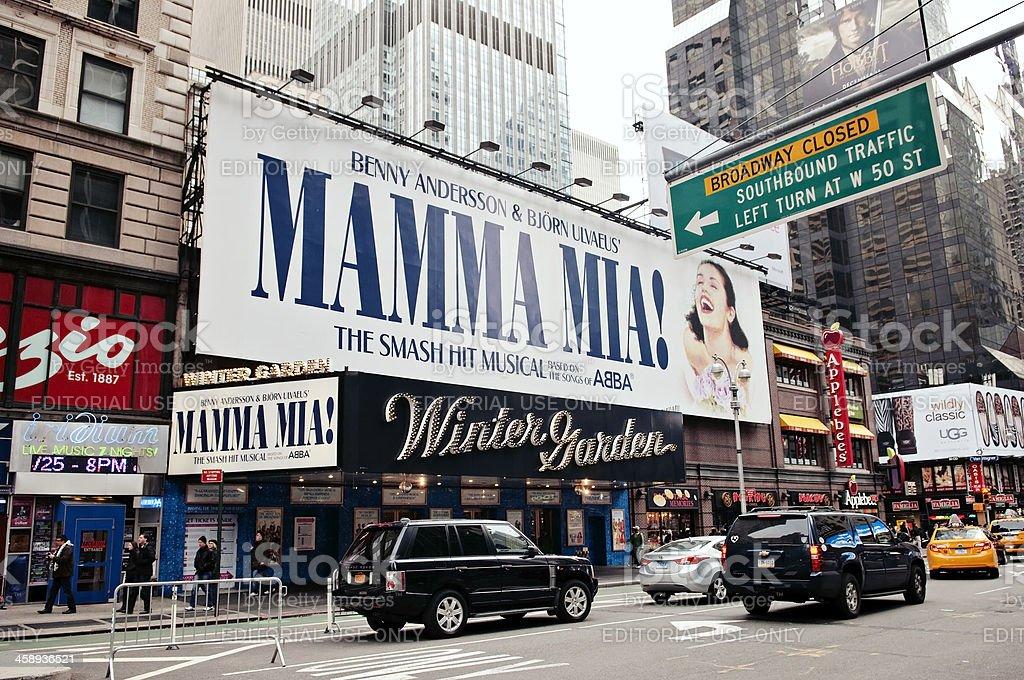 Mamma Mia on Broadway, New York City stock photo