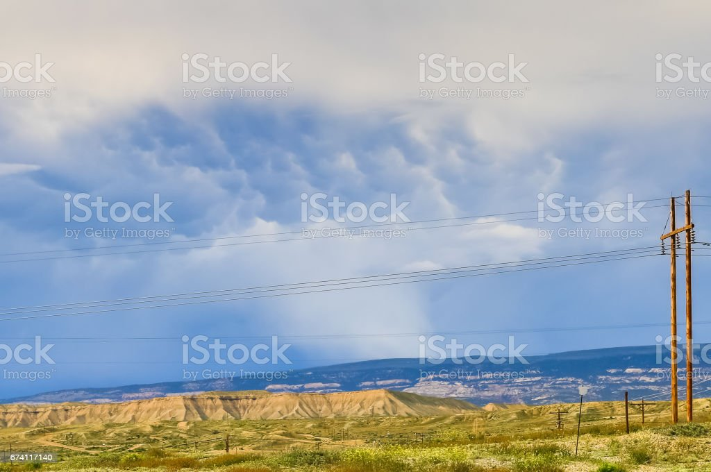Mammatus Cloud in Colorado royalty-free stock photo