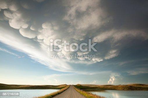 istock Mammatus Storm Clouds Saskatchewan 587216208
