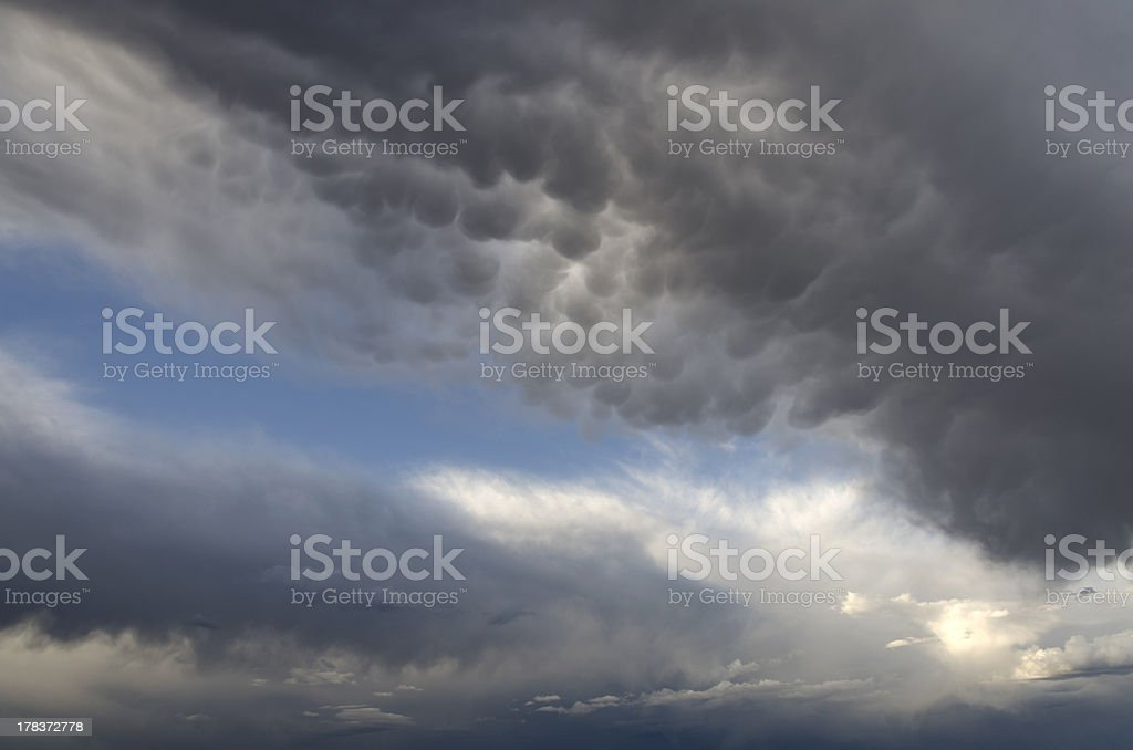 mammillary clouds on the Bryce Cany stock photo