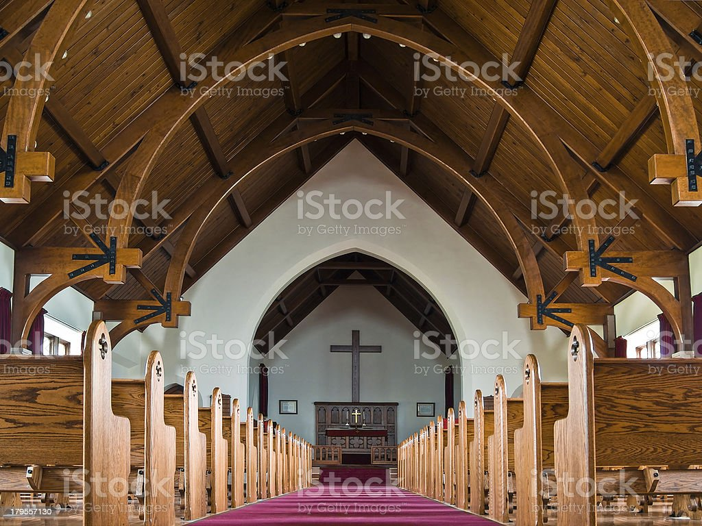 Mammoth Chapel in Yellowstone National Park stock photo