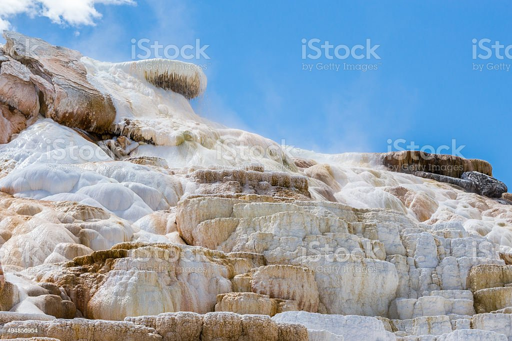 Mammoth Hot Spings in Yellowstone National Park, Wyoming, USA stock photo