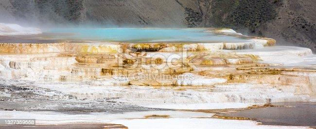 istock Mammoth Hot Springs at Yellowstone National Park, Wyoming 1327359558