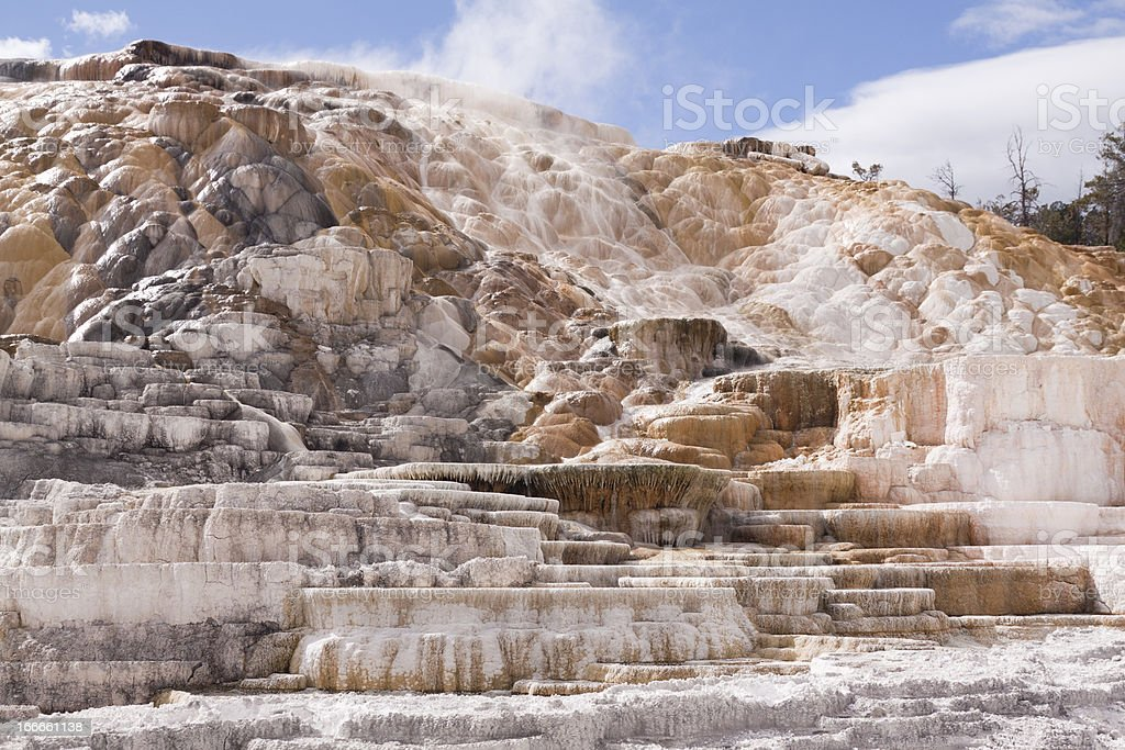 Mammoth Hot Springs royalty-free stock photo