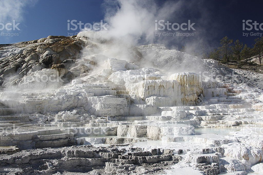 Mammoth Hot Springs - Yellowstone stock photo