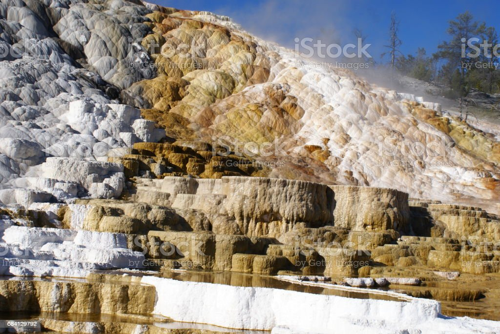 Mammoet Hotsprings gebied royalty free stockfoto
