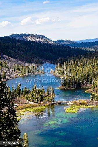Beautiful landscape of Mammoth Lakes in California.