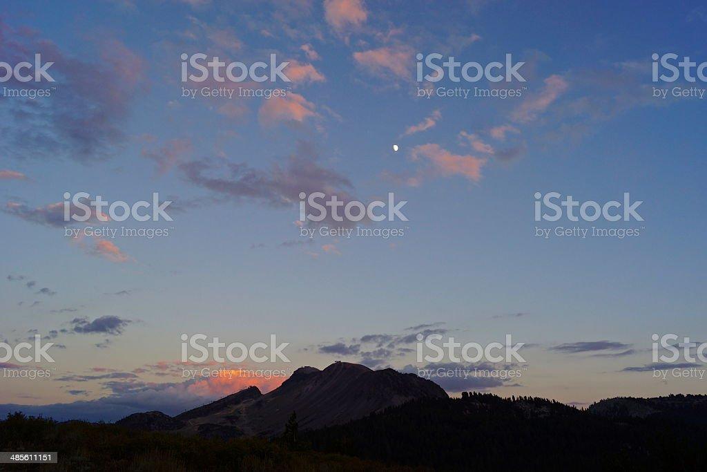 Mammoth Mountain Sunset stock photo