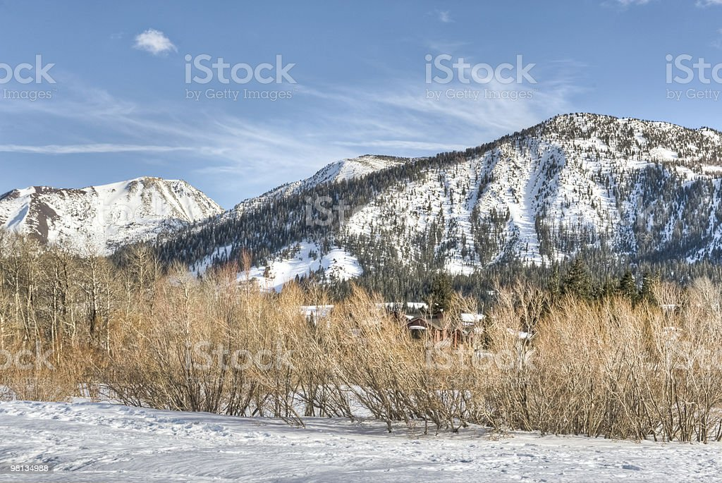 Mammoth Mountains royalty-free stock photo
