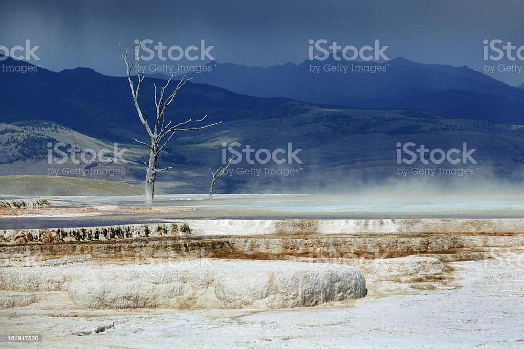 Mammoth Spring in Yellowstone National Park stock photo