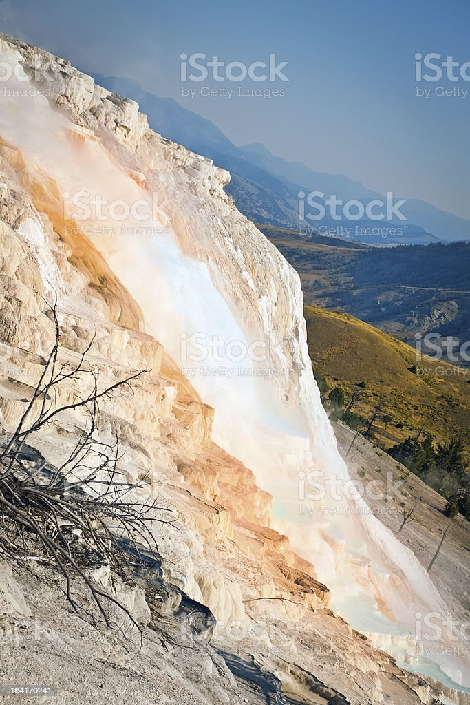 Mammoth Spring inYellowstone National Park Wyoming USA royalty-free stock photo