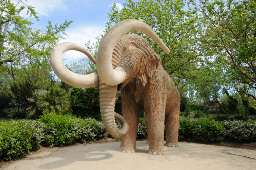 Mammoth statue in Barcelona, Spain