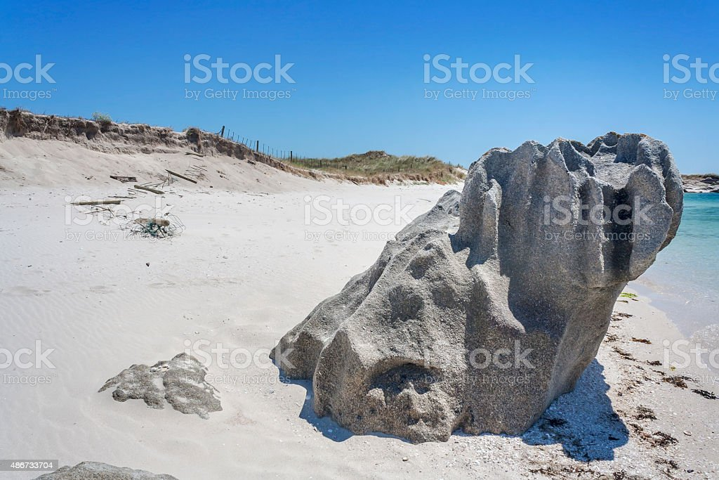 Mammoth dientes rock on Areoso Island - foto de stock