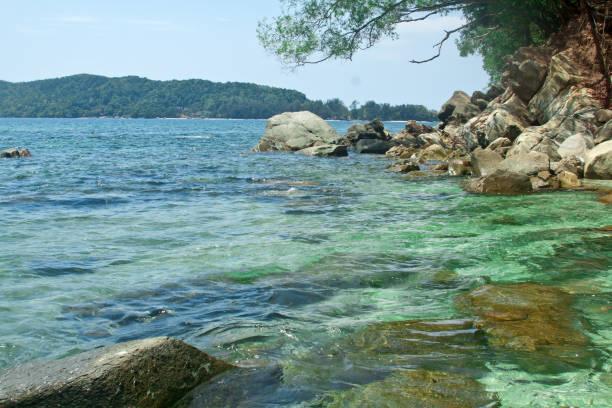 Mamutik、トゥンク ・ アブドゥル ・ ラーマン国立公園は、ボルネオ島、マレーシア ストックフォト