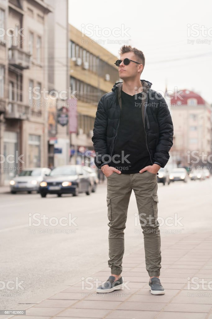 Man About Town stock photo