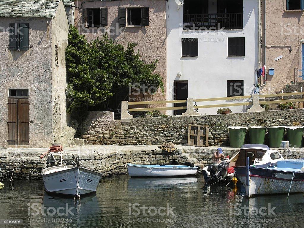 Man and Boat royalty-free stock photo