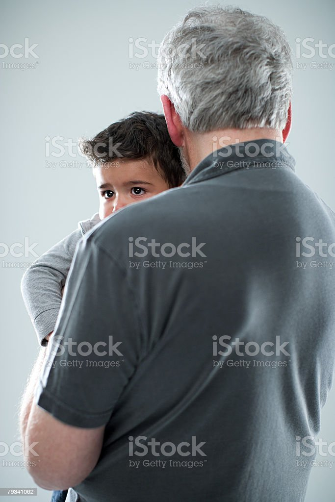 Mann und Junge Lizenzfreies stock-foto