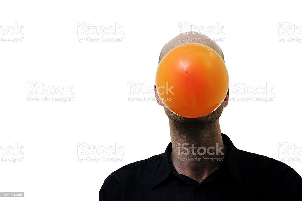 man and chewing gum bubble royalty-free stock photo