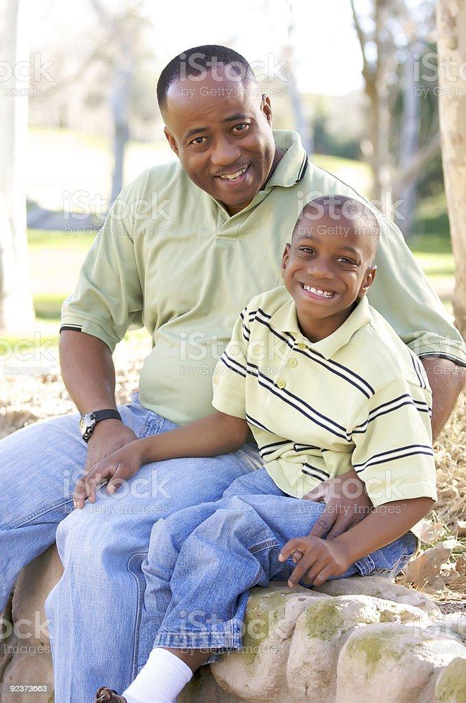 Man and Child Having Fun royalty-free stock photo