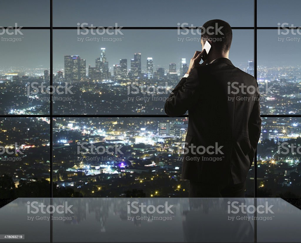 man and city nightlife royalty-free stock photo