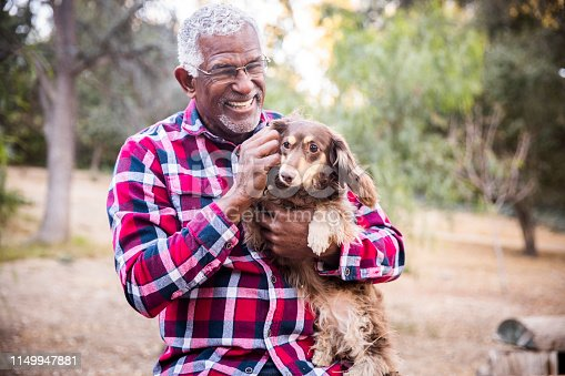istock Man and his best friend 1149947881