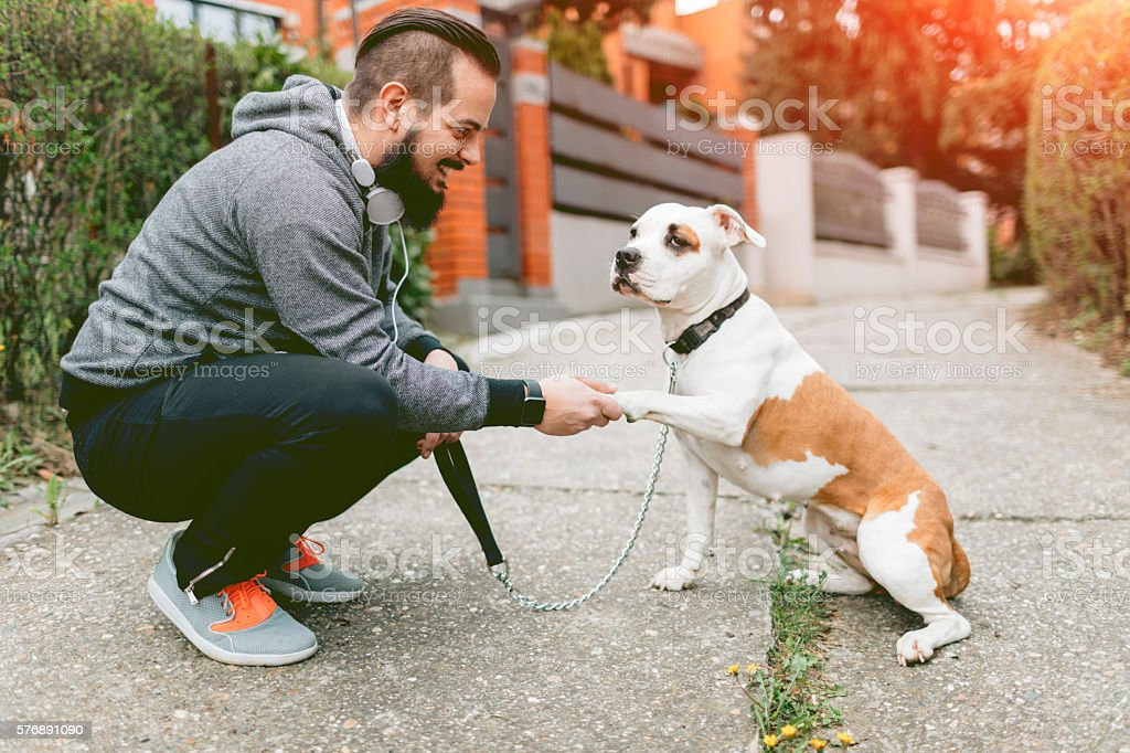 Man And His Best Friend stock photo
