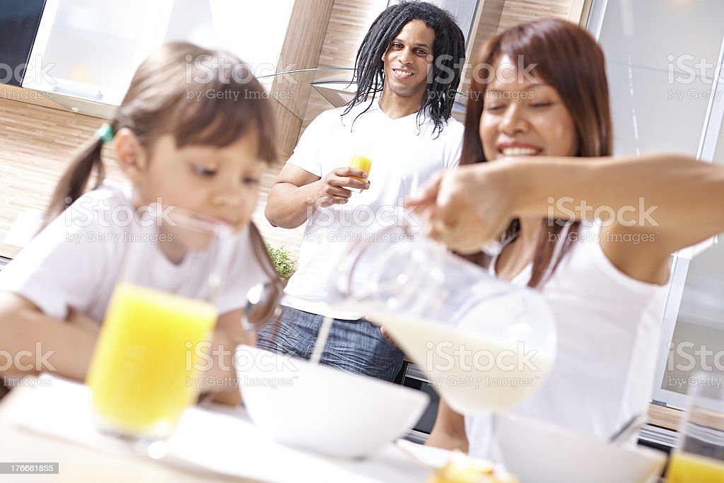Man and his family royalty-free stock photo