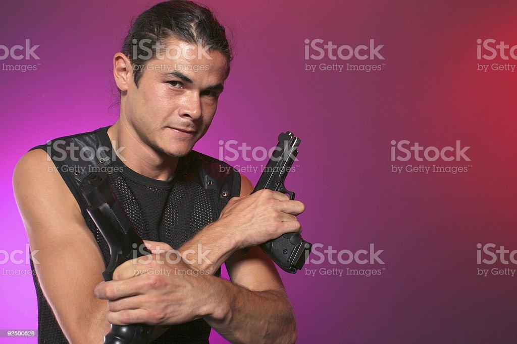 man and his gun royalty-free stock photo