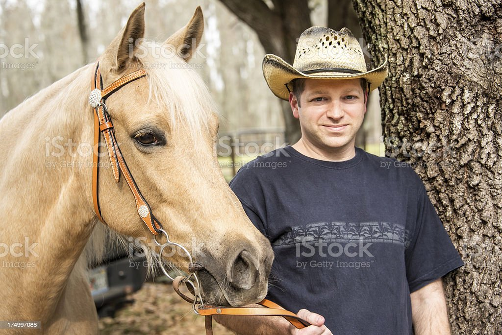 Man and His Horse royalty-free stock photo