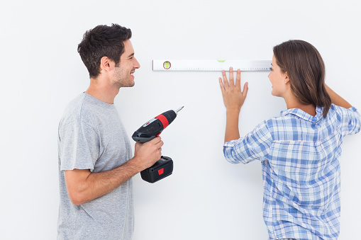 Man And His Wife Doing Diy Together Stock Photo - Download Image Now