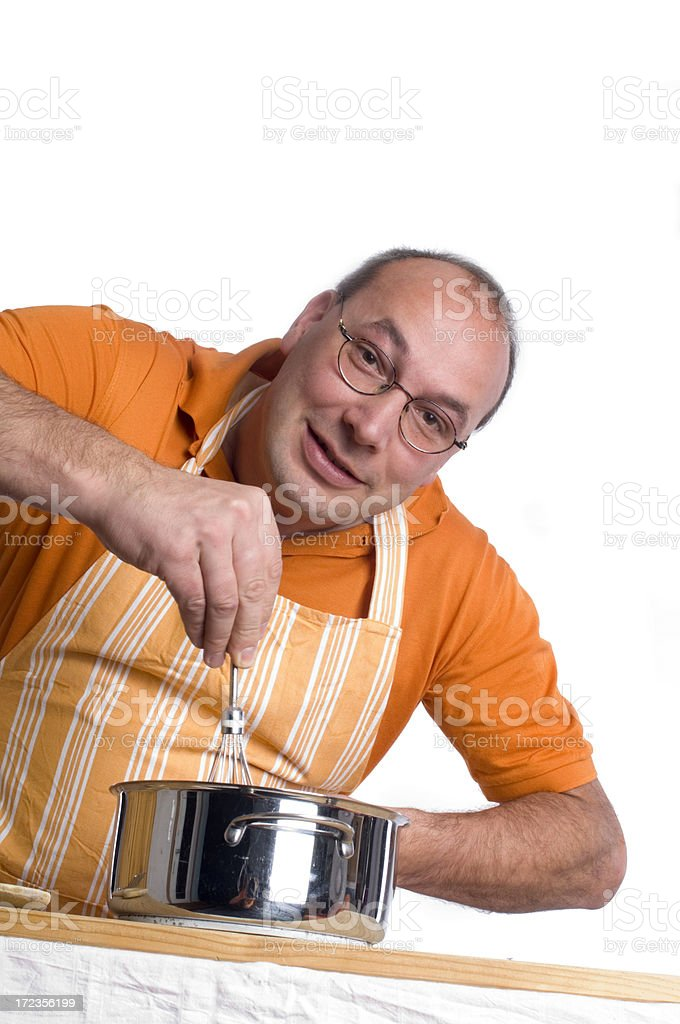 Man and housework royalty-free stock photo
