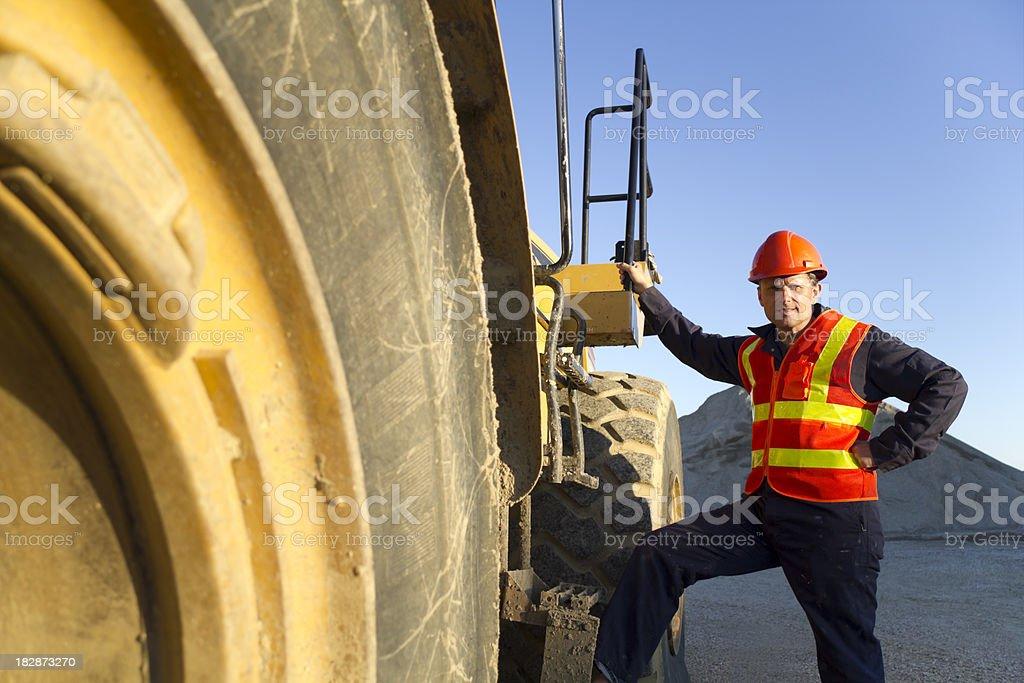 Man and Machine stock photo
