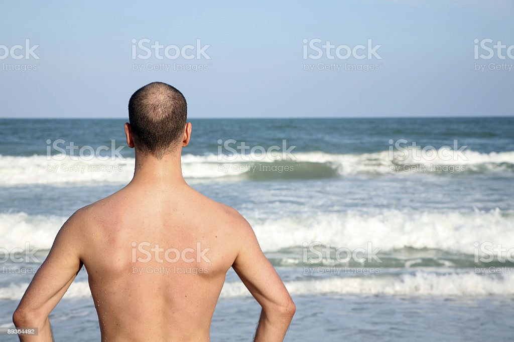 man and sea royalty-free stock photo