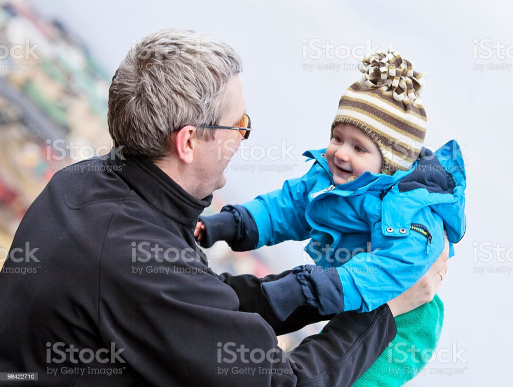 Man and small baby royalty-free stock photo