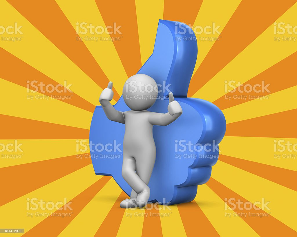 man and thumbs up royalty-free stock photo