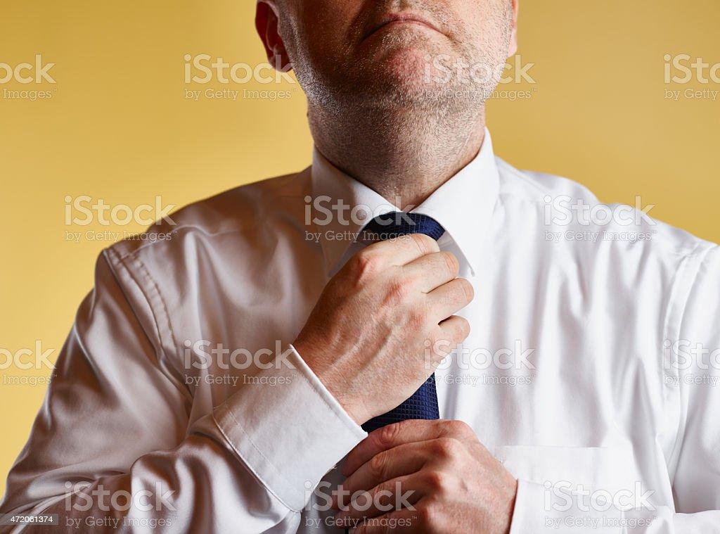 Man and Tie stock photo