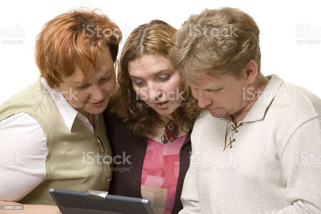man and two women royalty-free stock photo