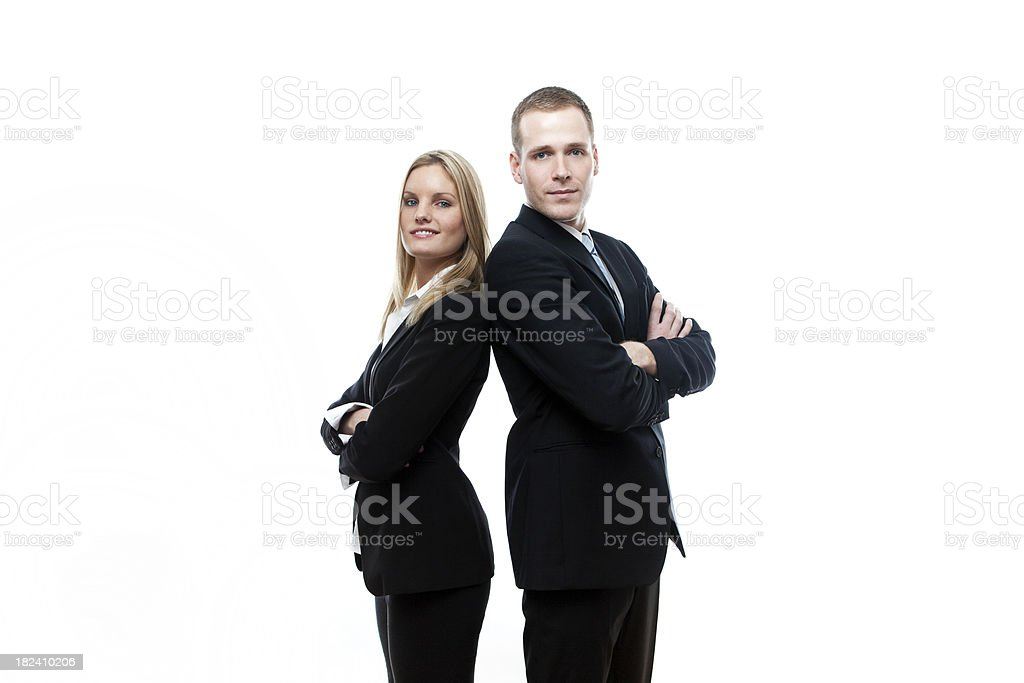 Man and Woman A Young Business Team royalty-free stock photo